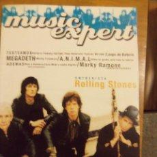 Revistas de música: REVISTA MUSIC EXPERT + CD (ROLLING STONES) - ARGENTINA - 1999 - Nº 2 - RARA!. Lote 44662491