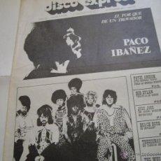 Revistas de música - REVISTA DISCO EXPRES PACO IBAÑEZ - 44886197