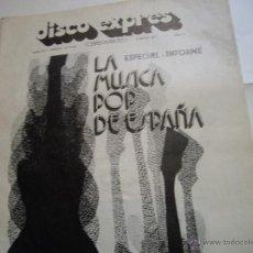Revistas de música: REVISTA DISCO EXPRES MUSICA POP ESPAÑA. Lote 44894471