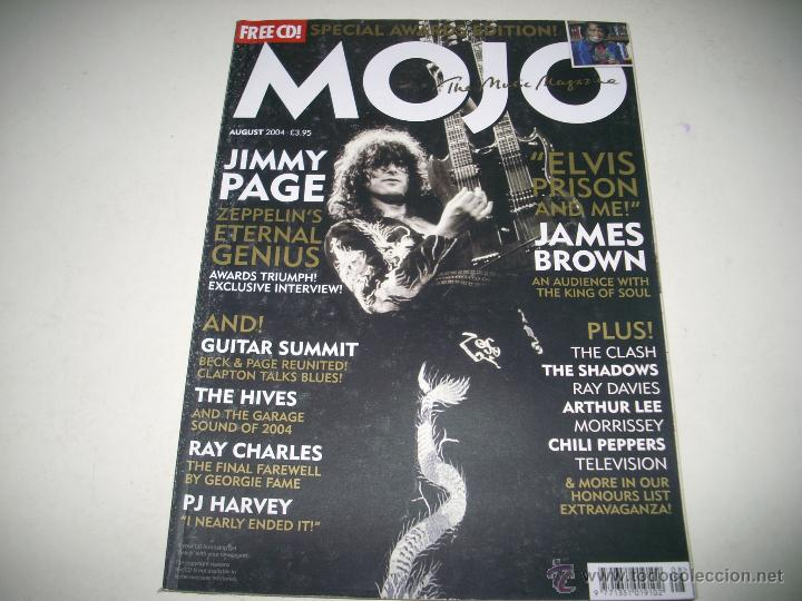 MOJO 129 AGO 2004 JIMMY PAGE LED ZEPPELIN JAMES BROWN THE HIVES RAY CHARLES PJ HARVEY SHADOWS (Música - Revistas, Manuales y Cursos)