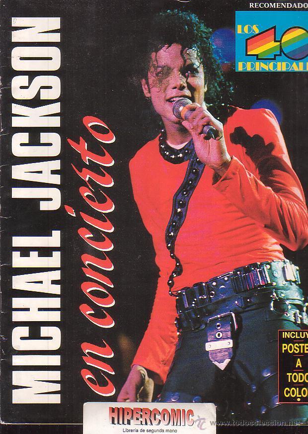 MICHAEL JACKSON EN CONCIERTO 1988, MANTIENE POSTER CENTRAL (Música - Revistas, Manuales y Cursos)