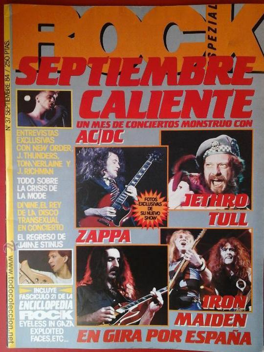 ROCK ESPEZIAL Nº 37 SEPTIEMBRE 1984 (Música - Revistas, Manuales y Cursos)