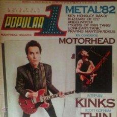 Revistas de música: REVISTA POPULAR 1 FEBRERO 1982, MOTORHEAD, THIN LIZZY, BYRON BAND........... Lote 46080351