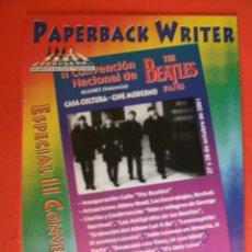 Revistas de música: PROGRAMA SEGUNDA CONVENCION NACIONAL THE BEATLES FANS ESPAÑA. Lote 46398959