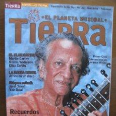Revistas de música: TIERRA. EL PLANETA MUSICAL. Nº 9. 30/01/2000. RECUERDOS DE LA INDIA, RAVI SHANKAR. EL CLAN CARTHY.... Lote 46542922