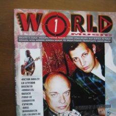 Revistas de música: WORLD 1 MUSIC. PETER SCHWALM & BRIAN ENO. NATACHA ATLAS. DIEGUITO EL CIGALA. SALLY OLDFIELD. ETC.. Lote 46563583
