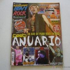 Revistas de música: REVISTA HEAVY ROCK KERRANG Nº 4 ANUARIO IRON MAIDEN. MOTLEY CRUE. GREEN DAY. MARILYN MANSON. Lote 46608592
