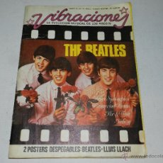 Revistas de música: THE BEATLES - REVISTA VIBRACIONES ENERO 76 / N.16, AÑO 3 , CONTIENE POSTER THE BEATLES - LLUIS LLACH. Lote 47306560