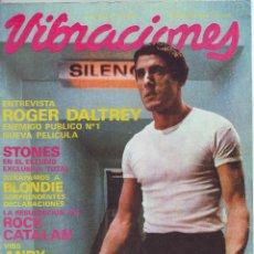 Revistas de música: VIBRACIONES -Nº 71 AGOSTO 1980 STONES EN EL ESTUDIO -BLONDIE -MICHAEL JACKSONS -ANDY WARHOL -DALTREY. Lote 47680355
