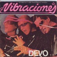 Revistas de música: REVISTA VIBRACIONES Nº 50 NOVIEMBRE 1978 DEVO PORTADA ARTICULO Y POSTER SYNTH POP NEW WAVE. Lote 47680604