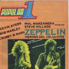 Revistas de música: POPULAR 1 Nº 44 FEBRERO 1977 -LED ZEPPELIN -BOB MARLEY -GERMAN ROCK. Lote 47683909