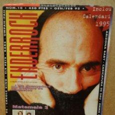Revistas de música: ENDERROCK. Nº 10. GEN - 95. LLUIS LLACH - ELS PETS, ETC...INCLOU CALENDARI 1995.. Lote 47745844