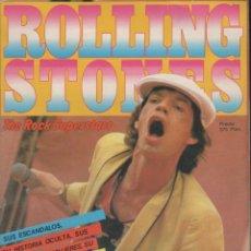 Revistas de música: INTERESANTE REVISTA ROLLING STONES THE ROCK SUPERSTARS DE GACETA ILUSTRADA. Lote 48409606
