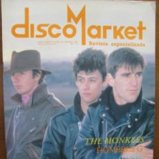 Revistas de música: DISCO MARKET. DUNCAN DHU. THE MONKEES. HOMBRES G. CASAL. Nº 5.1988. REVISTA ESPECIALIZADA. VER FOTOS. Lote 49019590