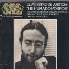 Revistas de música: REVISTA SAL COMUN Nº 35 (ENERO 1981) - EL MINISTRO DE JUSTICIA... JOHN LENNON. Lote 49115528