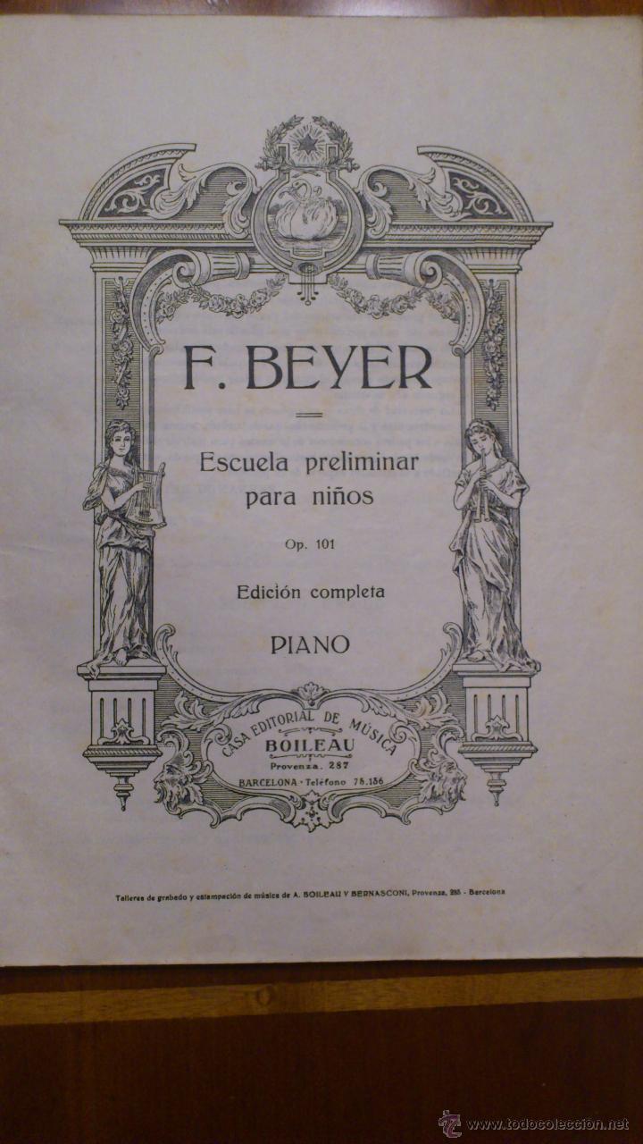 Revistas de música: ANTIGUO CURSO DE PIANO DE F. BEYER- EDITORIAL BOILEAU - Foto 2 - 49584971