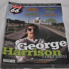 Revistas de música: RUTA 66 Nº 287. GEORGE HARRISON. NICK TOSCHES. SUZI QUATRO. MICKEY NEWBURY. THE AVETT BROTHERS.. Lote 104096330