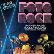 Revistas de música: REVISTA VIBRACIONES EXTRA FOTO ROCK 78 HISTORIA DEL ROCK + POSTERS BEATLES JAGGER @ NUEVA Y COMPLETA. Lote 49961275