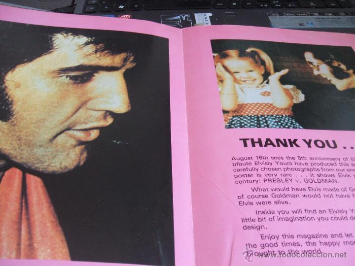 Revistas de música: ELVIS PRESLEY - ELVISLY YOURS Issue nº 6. Año 1982. Reino Unido - Foto 2 - 50035434