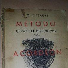 Revistas de música: MÉTODO COMPLETO PROGRESIVO PARA ACORDEÓN ANZAGHI MUSICAL. Lote 50039262