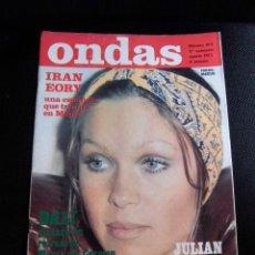 Revistas de música: MARISOL REVISTA ONDAS ORIGINAL PORTADA ARTICULO AÑOS 70 ESPAÑA RARA. Lote 50184320