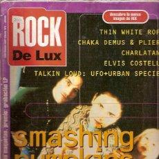 Revistas de música: REVISTA ROCK DE LUX 107 SMASHING PUMPKINS CHARLATANS ELVIS COSTELLO RONALDOS DESCATALOGADO . Lote 50319387