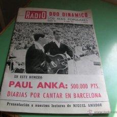 Revistas de música: REVISTA CORREO DE LA RADIO,DUO DINÁMICO. Lote 50393664