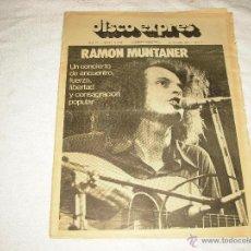 Revistas de música: DISCO EXPRES N 397. RAMON MUNTANER , IAN HUNTER ETC.... Lote 50415849