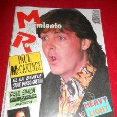 Revistas de música: REVISTA MOVIMIENTO DE ROCK NUMERO 1 PAUL MCCARTNEY BEATLES ESPAÑA SPAIN PAUL SIMON MANOWAR. Lote 50420839