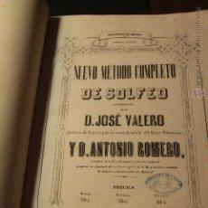 Revistas de música: METODO COMPLETO DE SOLFEO, D.JOSE VALERO, PRIMERA EDICIÓN, 1857 -CUÑO IMPRENTA LIBRERIA MARTI ALCOY. Lote 50707406