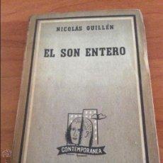 Revistas de música: LIBRO EL SON ENTERO DE NICOLÁS GUILLÉN. EDITORIAL LOSADA, BUENOS AIRES 1952. Lote 50716119