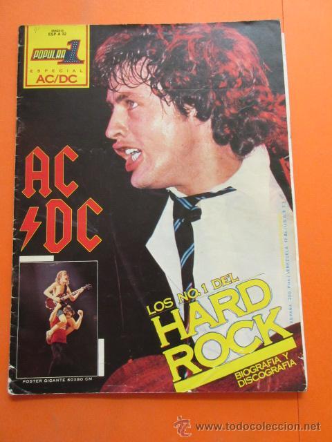 POPULAR 1 REVISTA ESPECIAL AC DC CON POSTER 60 X 80 CM. ACDC (Música - Revistas, Manuales y Cursos)