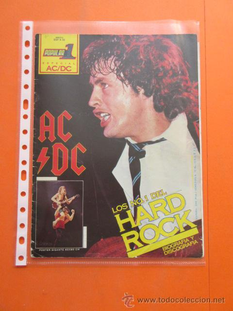 Revistas de música: POPULAR 1 REVISTA ESPECIAL AC DC CON POSTER 60 x 80 CM. ACDC - Foto 2 - 50752157