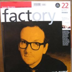 Revistas de música: FACTORY 22 1999. ELVIS COSTELLO. THE TRIFFIDS, KRANKY RECORDS, BIS, FRANK BLACK, CLAUSTROFOBIA,.... Lote 50948553