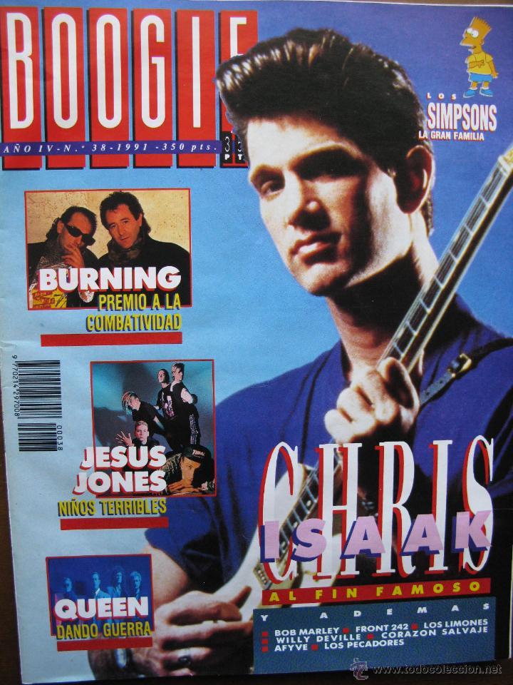 BOOGIE NRO 38 1991. BURNING, CHRIS ISAAK, JESUS JONES, QUEEN, BOB MARLEY, FRONT 242, LOS LIMONES, .. (Música - Revistas, Manuales y Cursos)