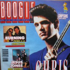 Revistas de música: BOOGIE NRO 38 1991. BURNING, CHRIS ISAAK, JESUS JONES, QUEEN, BOB MARLEY, FRONT 242, LOS LIMONES, ... Lote 50949093