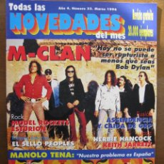 Revistas de música - NOVEDADES NRO 33 MAR 1996. M-CLAN,MANOLO TENA,PLANETAS,MODEL ROCKERS,ESTURION, ... - 50964576