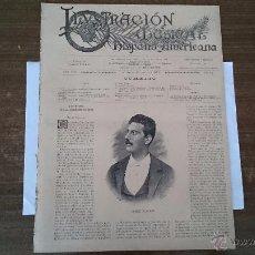 Revistas de música: LA ILUSTRACIÓN MUSICAL HISPANO AMERICANA AÑO IX NUM 198 BARCELONA 15 ABRIL 1896 REVISTA QUINCENAL . Lote 51075778