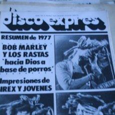 Revistas de música: DISCO EXPRES Nº 459 1978 BOB MARLEY . Lote 51122394