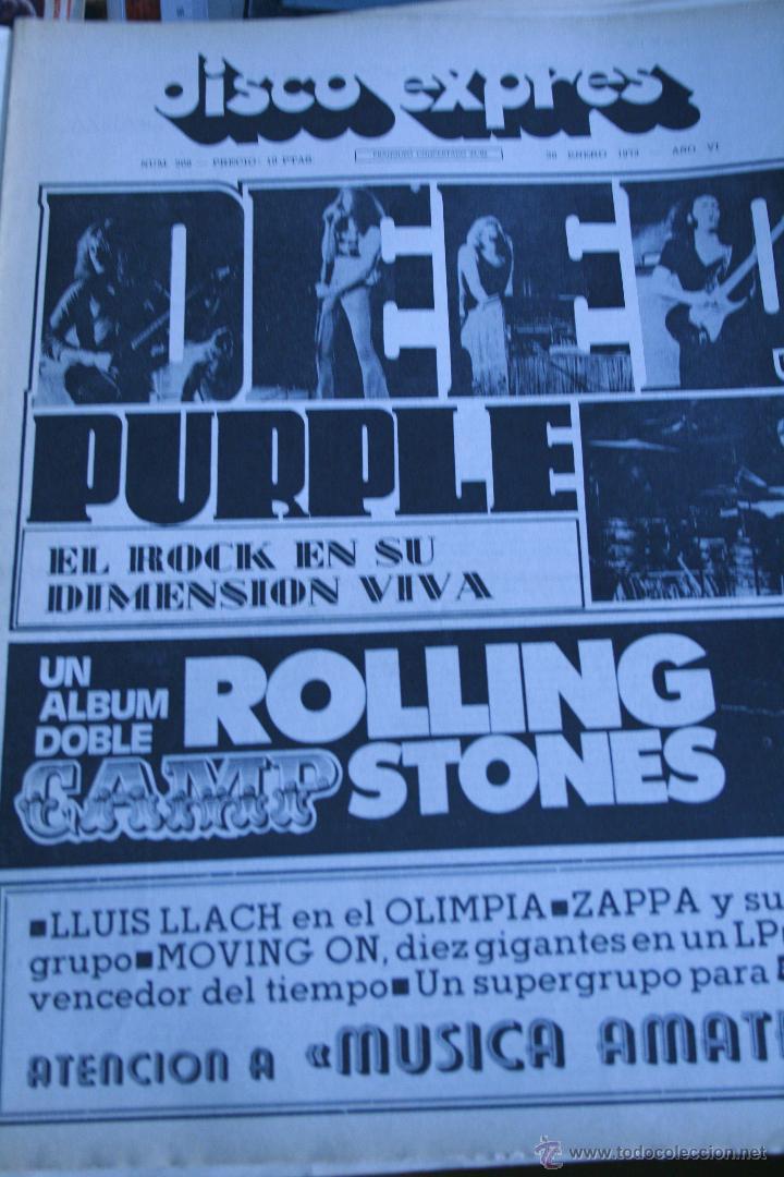 DISCO EXPRES Nº 208 DEEP PURPLE ROLLING STONES ELVIS PRESLEY (Música - Revistas, Manuales y Cursos)