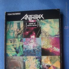 Revistas de música: ANTHRAX SOUND OF WHITE NOISE GUITAR TAB EDITION AUTHENTIC TRANSCRIPTIONS TABLATURES PEPETO. Lote 51246703