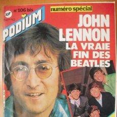 Revistas de música: ESPECIAL JOHN LENNON DE LA REVISTA FRANCESA ''PODIUM'' (RAREZA) - DICIEMBRE 1980 - BEATLES. Lote 51457227