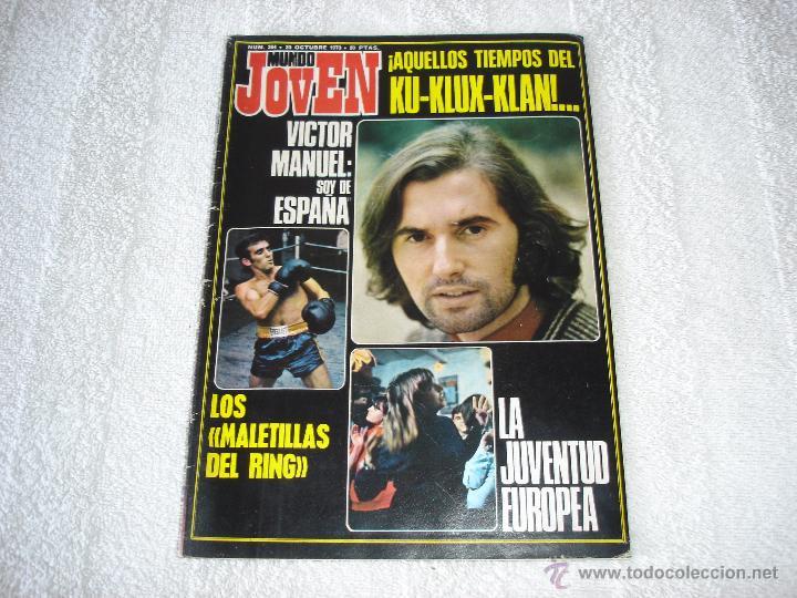 MUNDO JOVEN Nº264 (20-OCTUBRE-1973): VICTOR MANUEL, HILARIO CAMACHO, MERCEDES SOSA.............. (Música - Revistas, Manuales y Cursos)