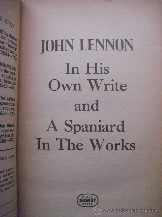 Revistas de música: John Lennon - Libro In his own write & Spaniard in the works (1965) - Beatles - Foto 2 - 51926777