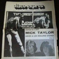 Revistas de música: DISCO EXPRES ORIGINAL EPOCA ESPAÑA Nº307 MAYALL MICK TAYLOR ROLLING STONES HARRISON . Lote 52808498