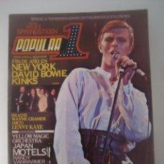Magazines de musique: REVISTA POPULAR 1 Nº 92 AÑO 1981 / DAVID BOWIE / AC/DC / KINKS - INCLUYE POSTER DE BRUCE SPRINGSTEEN. Lote 52838456