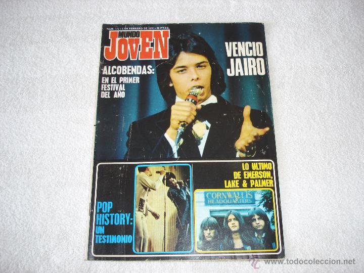 MUNDO JOVEN 175 (5-FEBRERO-1972: EMERSON LAKE & PALMER, PEKENIKES, POP HISTORY......... (Música - Revistas, Manuales y Cursos)