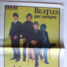 Revistas de música: BEATLES PERIODICO AVUI ESPECIAL FIRA DEL DISC DE BARCELONA NOVIEMBRE 1996 GOSSOS. Lote 53062641