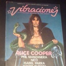 Revistas de música: REVISTA VIBRACIONES NUMERO 11 ALICE COOPER. Lote 53206469