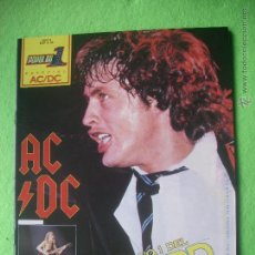 Revistas de música: POPULAR 1 AC/DC ESPECIAL AC/DC ESP A 32 / MUY BUEN ESTADO / COMPLETA / CON POSTER PDELUXE. Lote 53441610